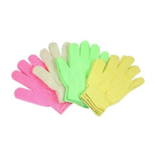 NUOLUX Paar Dusche Body Peeling Handschuhe Zufällige Farbe