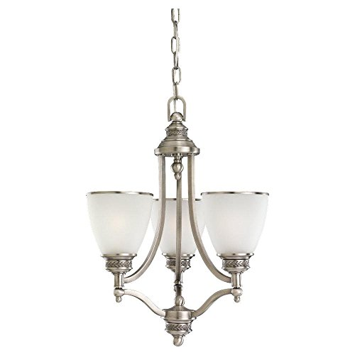 Three Light Antique Brushed Nickel Chandelier ()