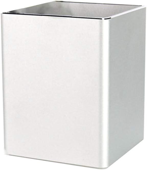 Quadrato Multifunzione Antiscivolo Supporto per Tazze Portapenne in Lega di Alluminio Creativo MYA portapenne da Ufficio in Lega di Alluminio Organizer per Penna da scrivania Nero
