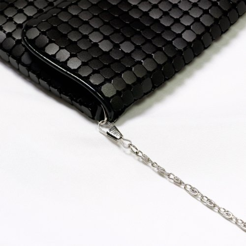 Avail Evening Black Flap Lightweight Colors Mesh Diff Metal Chic Clutch Bag naFx1xwzvq