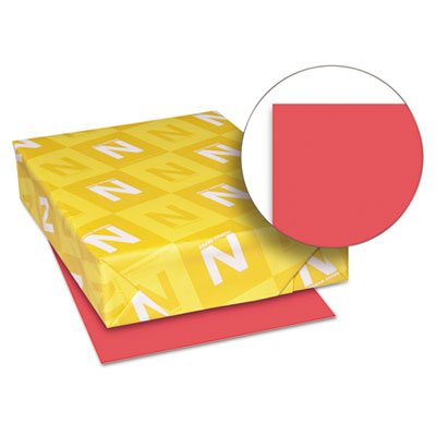 Astrobrights Colored Paper, 24lb, 8-1/2 x 11, Rocket Red, 500 Sheets/Ream, Sold as 1 Ream, 500 per Ream