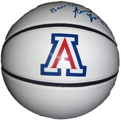 Aaron Gordon Autographed Arizona Wildcats Logo Basketball W/PROOF, Pictures of Aaron Signing For Us, Arizona Wildcats, Orlando Magic, 2014 NBA Draft, ...