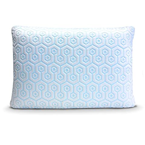 HYDROLOGIE Pillow - Best Cooling Pillow in King Size, Combines Both Ventilated Cooling Gel Memory Foam & Gel Fiber Bed Pillow Covered with Cool-to the-Touch Cooling Pillow - Gel Cooled