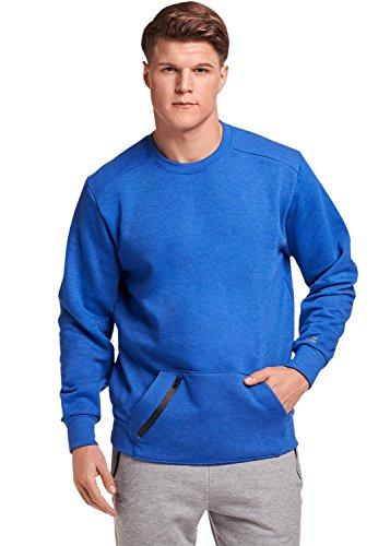 Russell Athletic Men's Cotton Rich Fleece Sweatshirt, Blue Heather M