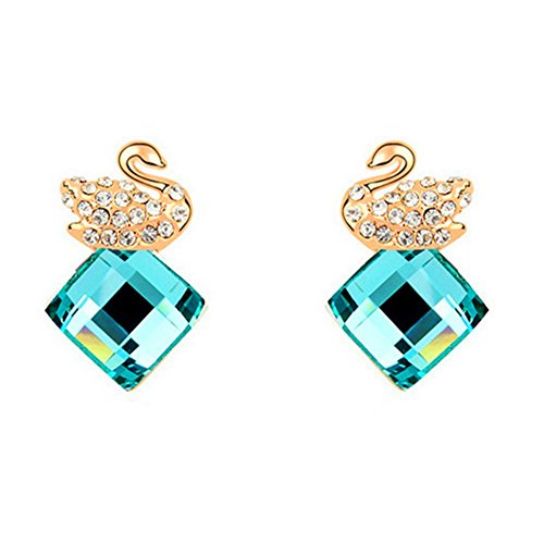 MosierBizne Fashion Swan Love Earrings(4)