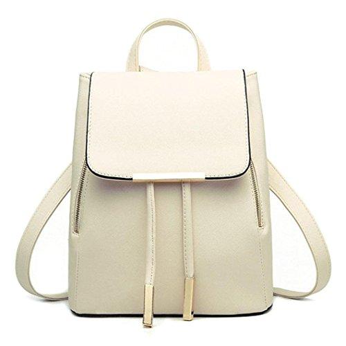 petit TM à cuir couleurs sac Coloré Beige dos 3 en p5vfq