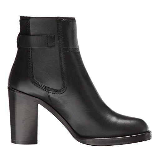 Women Ankle Winter Black NVXIE Ladies Rough Round Shoes Head EUR36UK354 Heel Boots Wild BLACK High Autumn Fashion Leather dEqZx1qw7p