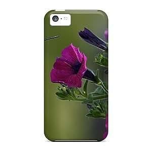 XiFu*MeiDustinHVance Fashion Protective Beautiful Hummingbird Purple Flowers Case Cover For Iphone 5cXiFu*Mei