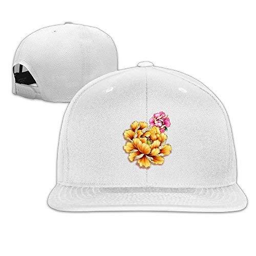 RS-pthrAA!!! Unisex Baseball Caps Beautiful Chinese Flower Style Snapback Hats Adjustable Sport Cap ()