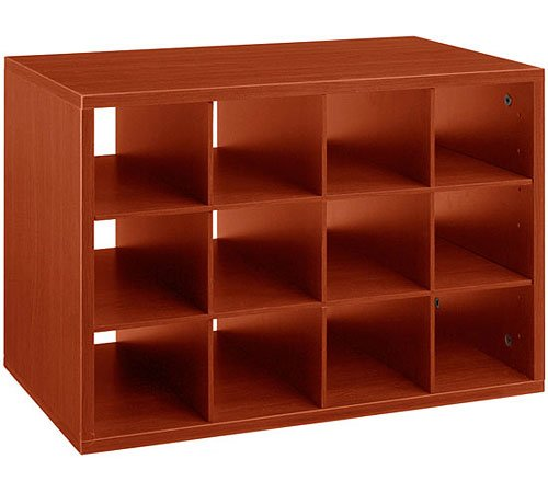MD Group freedomRail O-Box Cubby Unit - Cherry, 16'' x 14'' x 32 lbs