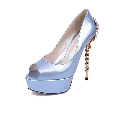 Minitoo Semelle Bleu compensée femme bleu qHaq8wZ
