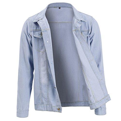 Jacket Blanc En Homme Manches Blouson Jean Longues Allthemen 7RCwqdR