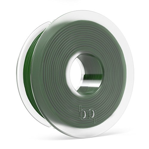 BQ F000120 – Filamento PLA de diámetro 1.75 mm, 300 g, color bottle green