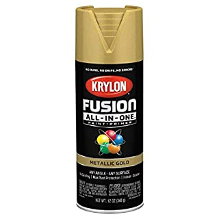 Krylon K02770007 Fusion All-In-One Spray Paint for Indoor/Outdoor Use, Metallic Gold