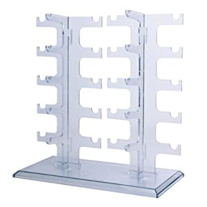 MAGIKON Two Row Sunglasses Rack Sunglasses Holder Display Stand