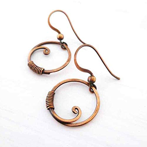 ircle Solid Copper Earrings ()
