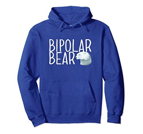 Unisex BIPOLAR BEAR Pullover Hoodie 2XL Royal Blue ()