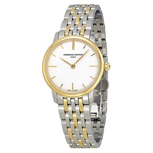 Frederique Constant Slimline Silver Dial Two-tone Unisex Watch FC-200S1S33B3