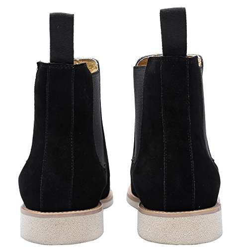 Boot Business Boots Casual Boots Black High Pointed 3 Toe Colors Chelsea Ankle Mens Dress Suede For US7q78