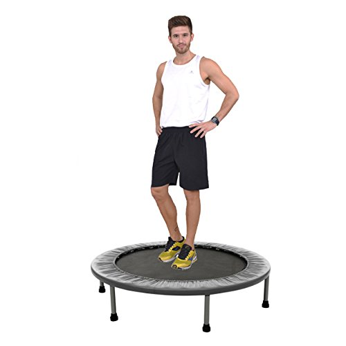Fitness Trampoline Durable Folding 38Inch 40Inch Mini Rebounder Trampoline for Workout Cardio - Long Lasting Premium Bounce