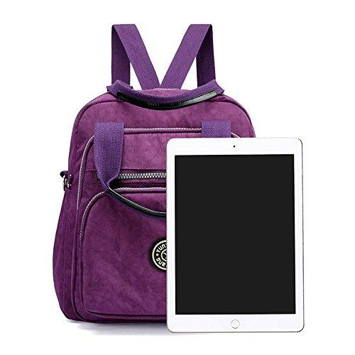 Lightweight Messenger black Mini Backpack Waterproof Girls Body Multifunction Casual Bag Daypack Nylon Handbag Women Cross 6002 Shoulder Nameblue Bags Eqw1BUPx