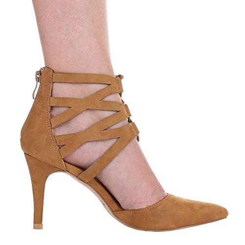 Ital-Design - Zapatos de Tacón Mujer Marrón - beige camel