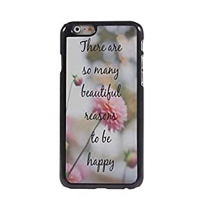 HJZ To Be Happy Pattern Aluminum Hard Case for iPhone 6 Plus