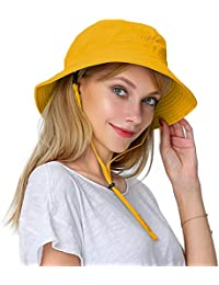 2a31fb2214a Women s Packable Fisherman Bucket Hat Outdoor Hat with Chin Strap - Sun  Protective