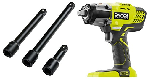 ryobi p261 18v one 3 speed 1 2 in cordless impact wrench bare tool with 1 2 in drive 3 6 8. Black Bedroom Furniture Sets. Home Design Ideas