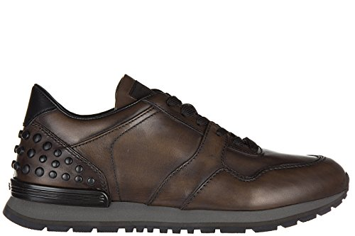 Tod's Sneakers Dots En Cuir Baskets Homme Allacciate Chaussures Rrq8Er