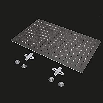 Aquarium 3mm Acrylic Divider with Holes 4PC Suction Clip 55