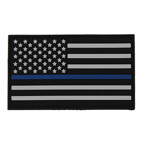 NEO Tactical Gear US Flag Thin Blue LINE for Police and Law Enforcement- PVC Morale Patch, Hook Backed Morale Patch