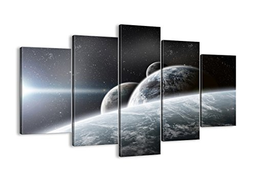 Canvas Print Picture - 5 Piece - moon wall art - home wall art decor