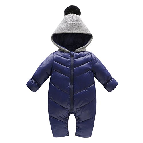 Genda 2Archer Unisex Baby Hooded Puffer Jacket Jumpsuit Winter Snowsuit Coat Romper(6-10M) for $<!--$26.99-->