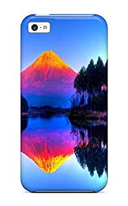 For KCWpBwI5668bbOMg Psychedelic Mountain Protective Case Cover Skin/iphone 5c Case Cover