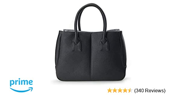 f57c9742e8ef0 Hoxis Summer Colorful Basic Handbag Office Lady Minimalist Pebbled Faux Leather  Tote Magnetic Snap Purse(Black)  Handbags  Amazon.com