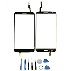 Touch Screen Glass Digitizer for LG G2 D800 D801 D803 LS980 VS980 with free tools (Not include LCD) (Black)