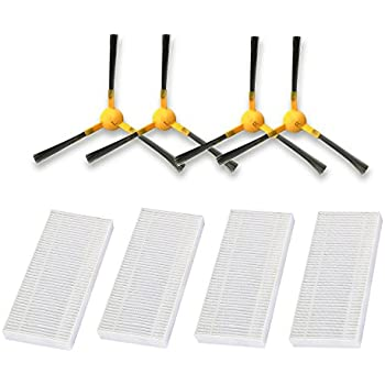 Tesvor New Consumable Accessories Parts Pack Sides Brush Filters V300S Robot Vacuum