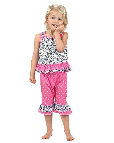 Laura Dare Baby Girls Sweet Daisey Bow Top Pajamas