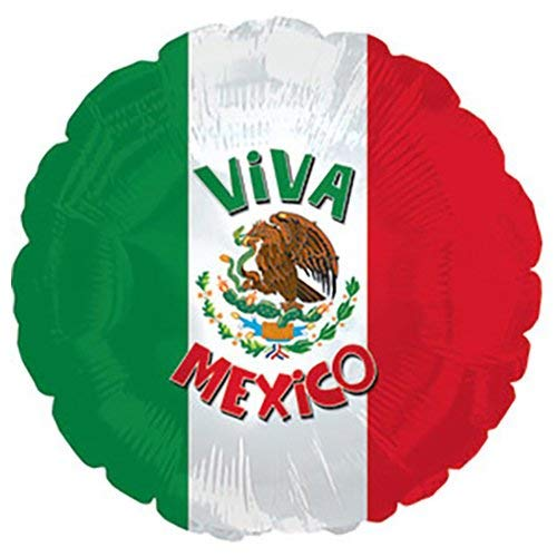 17 CTI Foil Balloon 117613 VIVA MEXICO Multicolored