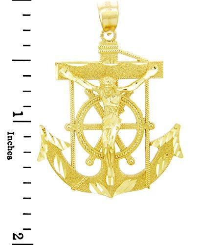 10 ct 471/1000 Religieux Charmes - La Ancre-Croix-Or Pendentif