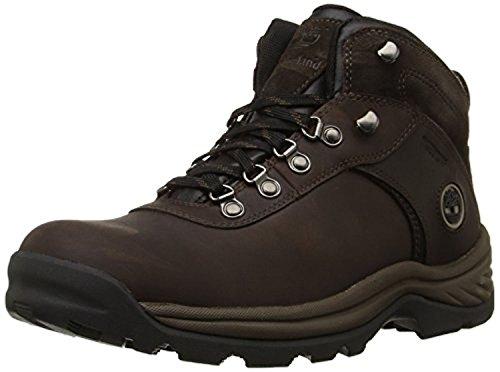 Timberland Men's Flume Mid Waterproof Boots Dark Brown 9 M & Knit Cap Bundle
