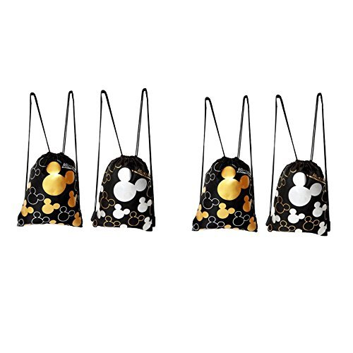 Disney Mickey Mouse Drawstring Backpack 4 Pack