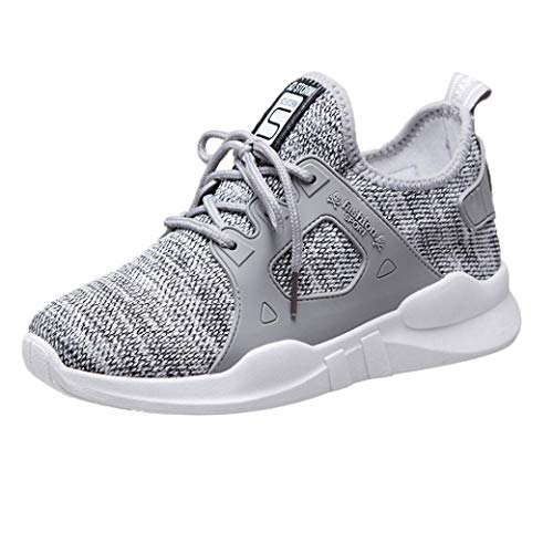 Wenjuan Fashion Net Women's Casual Shoes Outdoor Walking Shoes,Breathable Student Sneakers Sports Shoes (Gray, 8) from Wenjuan-Clothing Shoes & Accessories Blouse