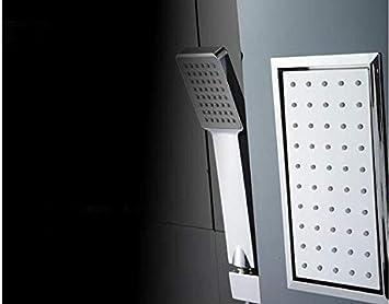 Giow Ducha Mampara de Ducha Columna de Ducha Juego de Ducha Baño termostático de Mano Rociador Lateral Acero Inoxidable Un botón Cuatro Controles Baño de Agua fría y Caliente, el Grifo Original