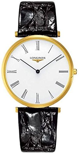 Longines La Grande Classique White Dial Black Leather Mens Watch L47552112 ()