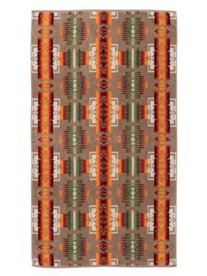 Pendleton Oversized Jacquard Towel, Chief Joseph, Khaki