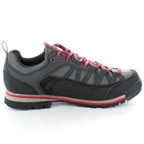 Karrimor Mens Spike Waterproof and Breathable Walking Low Shoes Black Red multicolor