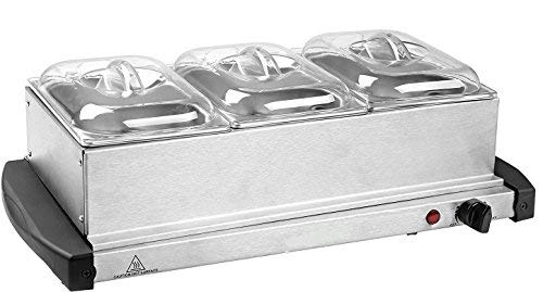 J-JATI Buffet Warmer 3- warming Trays 16x26 Surface 200W 170F-180F
