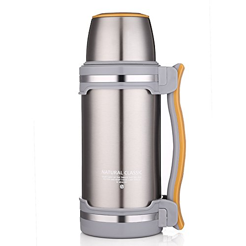 ONEISALL GYBL074 2L Vacuum Insulated Carafe, Stainless Steel Double-wall Vacuum Coffee Pot, Insulated Cafetiere/Carafe/ Water Pitcher/ Water Kettle/ Coffee Thermos/ Coffee Plunger (Stainless steel) by oneisall